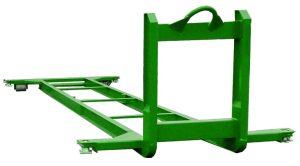 Unterrahmen mit Twist-Lock für 20 Fuß Lagercontainer oder Bürocontainer - Abrollcontainer DIN 30722-1