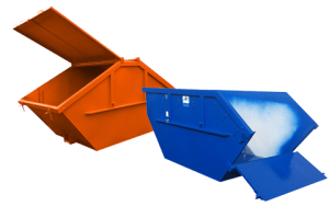 Absetzmulden offen, mit Klappe oder Deckel, gebaut nach DIN 30720