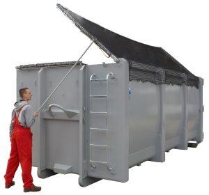 Klappnetz für ECOLINE - Abrollcontainer DIN 30722