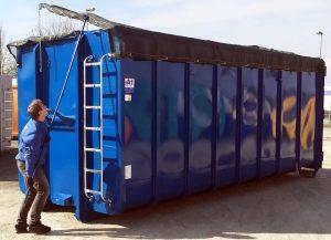 Klappnetz für Normbehälter - Abrollcontainer DIN 30722