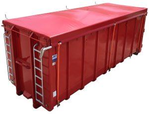 Rollplane für Normbehälter - Abrollcontainer DIN 30722
